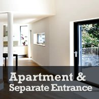 create an apartment with separate entrance out of your unfinished basement