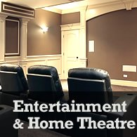 create an entertainment room or home theatre in your basement