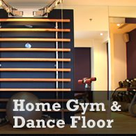 create a home gym and dance floor in your basement
