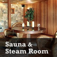 add a sauna and steam room in your basement