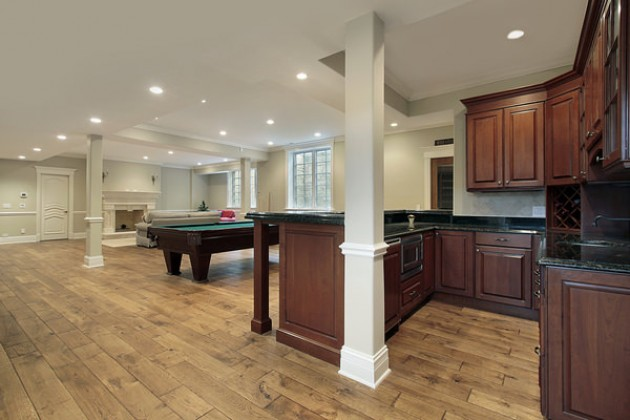 The most beautiful basement solutions basement bro for Beautiful basements pictures